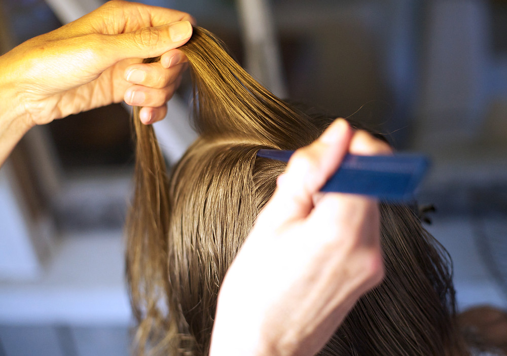 Combing for nits and head lice