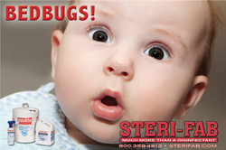 Sterifab Ad - Bed bug baby face
