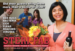 Sterifab Ad - House guests and bugs