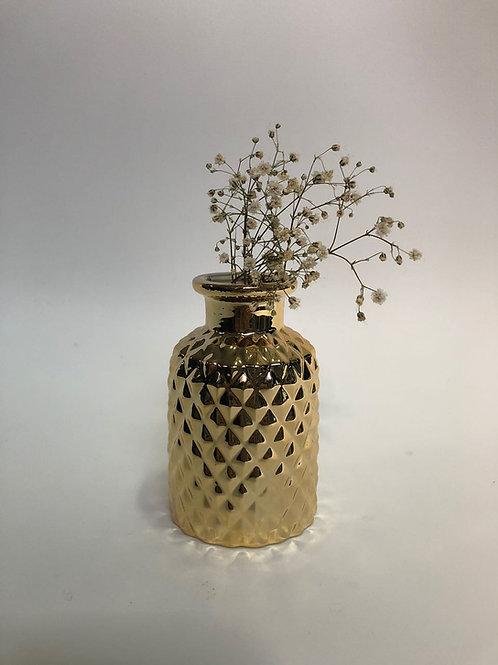 Vaso retrô dourado