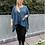 Thumbnail: Blue sparkle pocket top