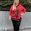 Thumbnail: Red graffiti hooded top