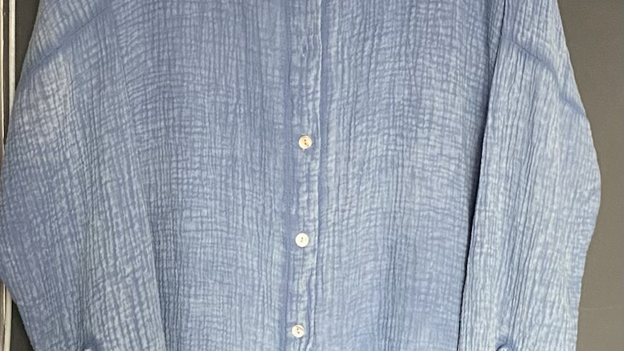 Light blue waffle shirt
