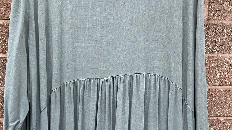 Khaki tiered dress