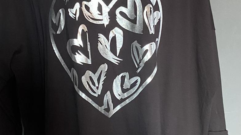 Heart zip jumper