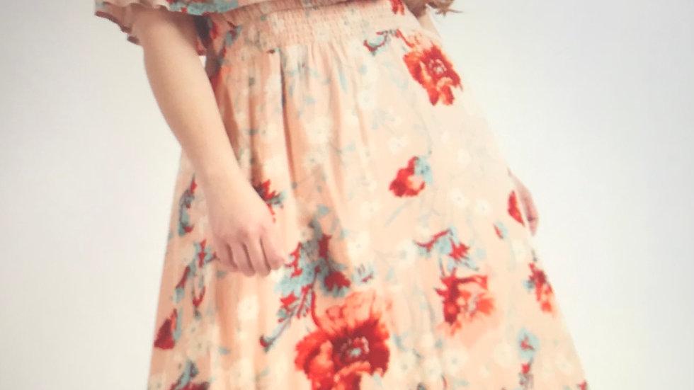 Floral Maxi Bardot Dress