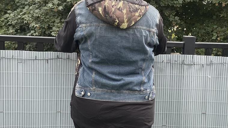 Camo denim jacket