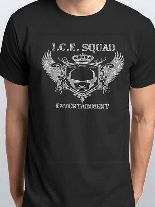 ICE SQUAD ENT Logo Tee (Silver Glitter)