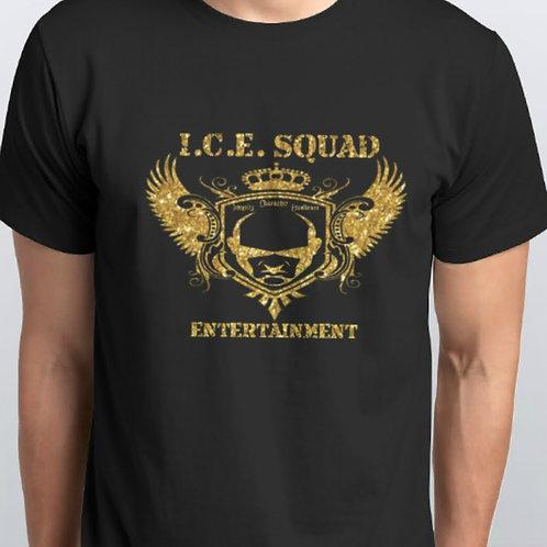 ICE SQUAD ENT Logo Tee (Gold Glitter)