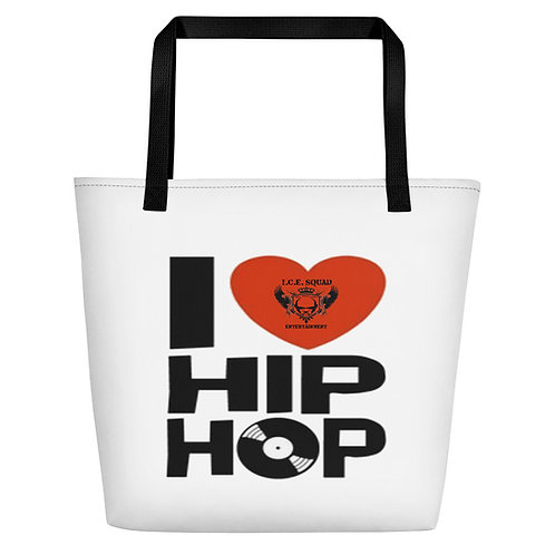"ICE SQUAD ENT ""I Love Hip Hop"" Beach Bag"
