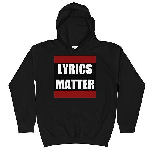 Lyrics Matter Kids Hoodie (Black)