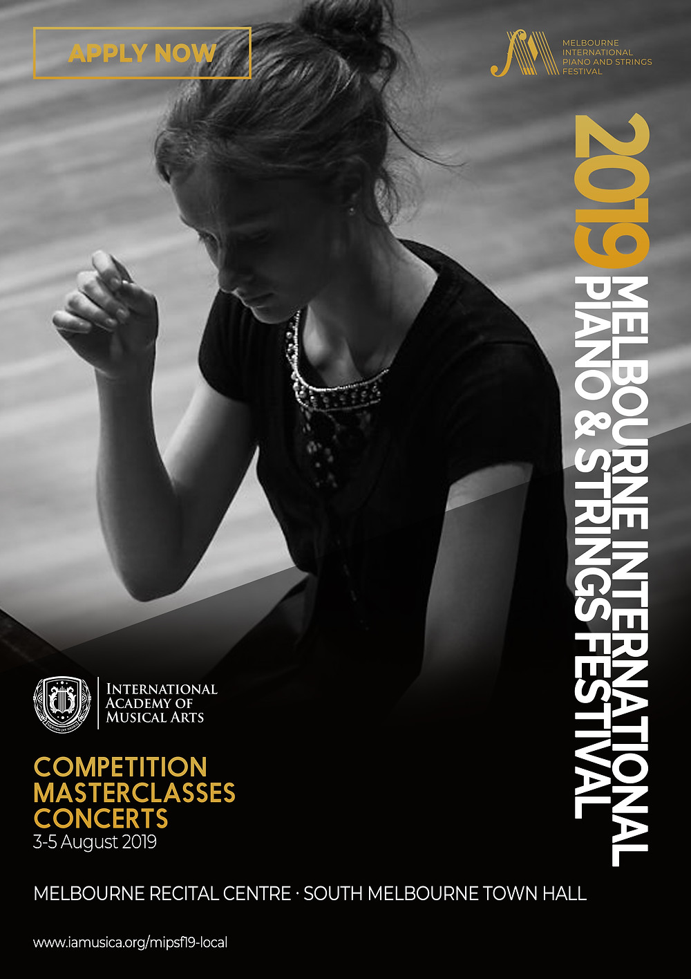 Melbourne International Piano And Strings Festival Competition Poster