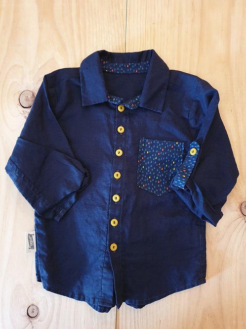 Bohemian blue shirt