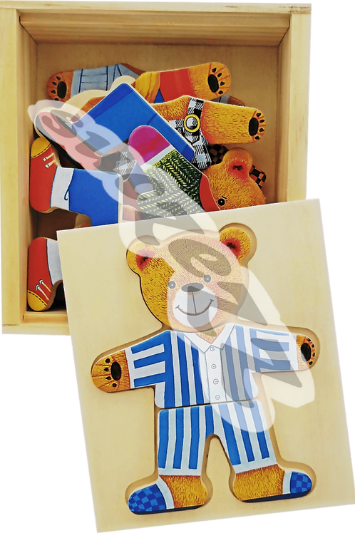 Bear puzzles in box