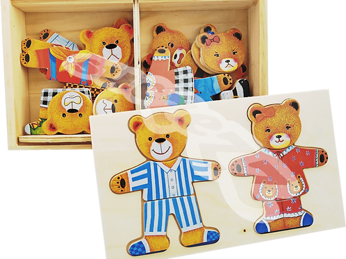Bear puzzle in box : Mom and Dad