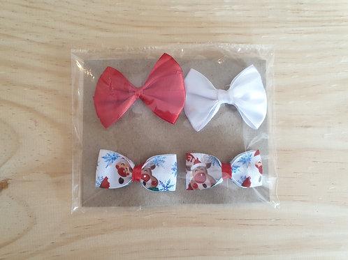 Rudolf and Santa combo bows