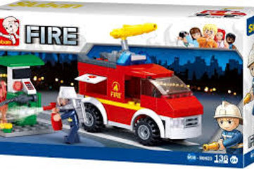 Small fire truck and oil