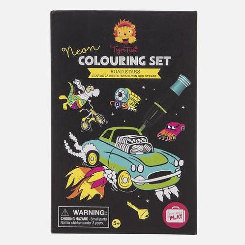 Neon colouring set