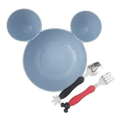 Mickey Mouse Plate and Cutlery set