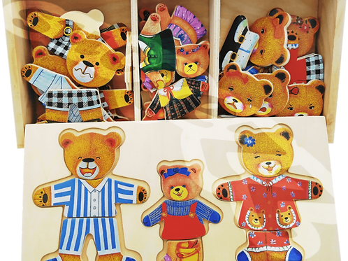 Bear puzzle in box : Family