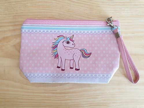 Unicorn wristlet bag