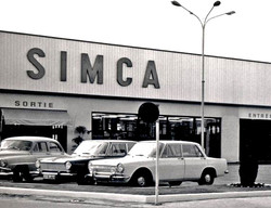 Simca Dealership in France