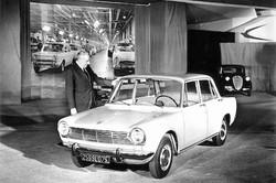 DG Henri Theodore Pigozzi at launch of 1300 in 1963