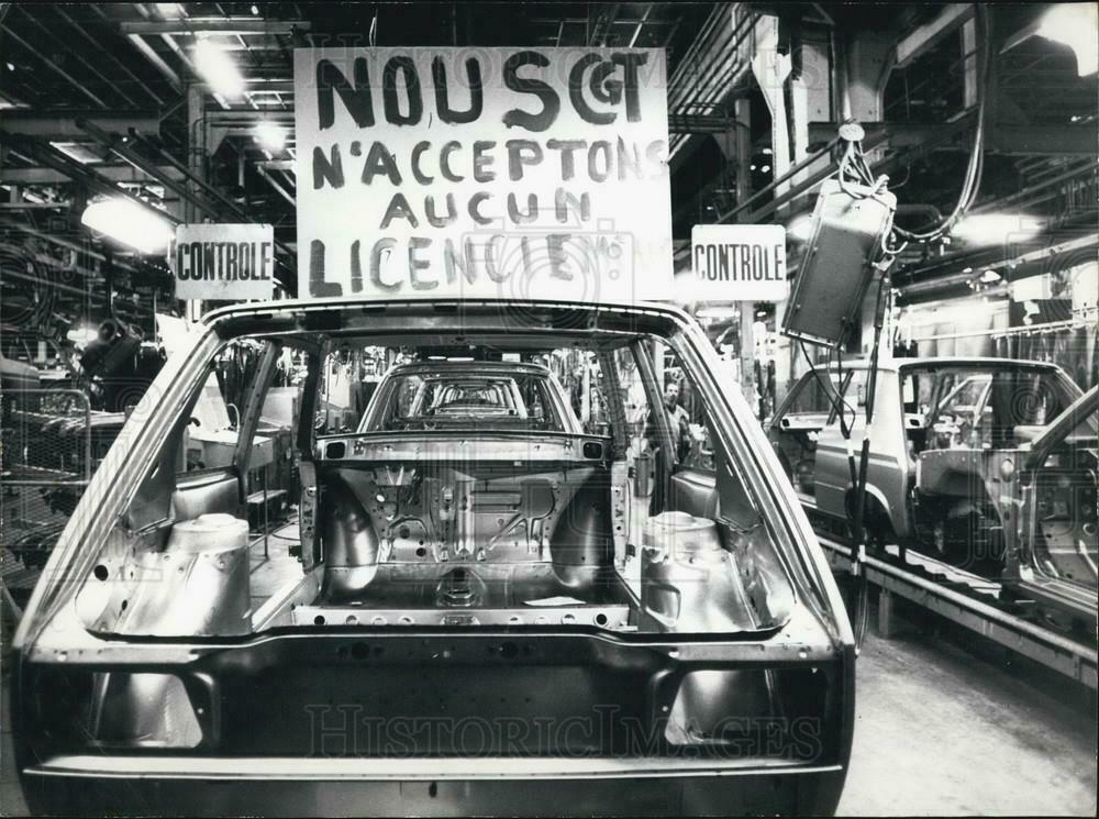 Photo of Strike at Poissy Factory 1983