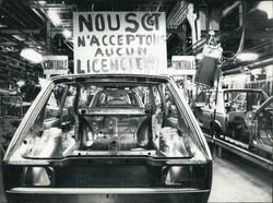 Photo of Strike at Poissy Factory 1983