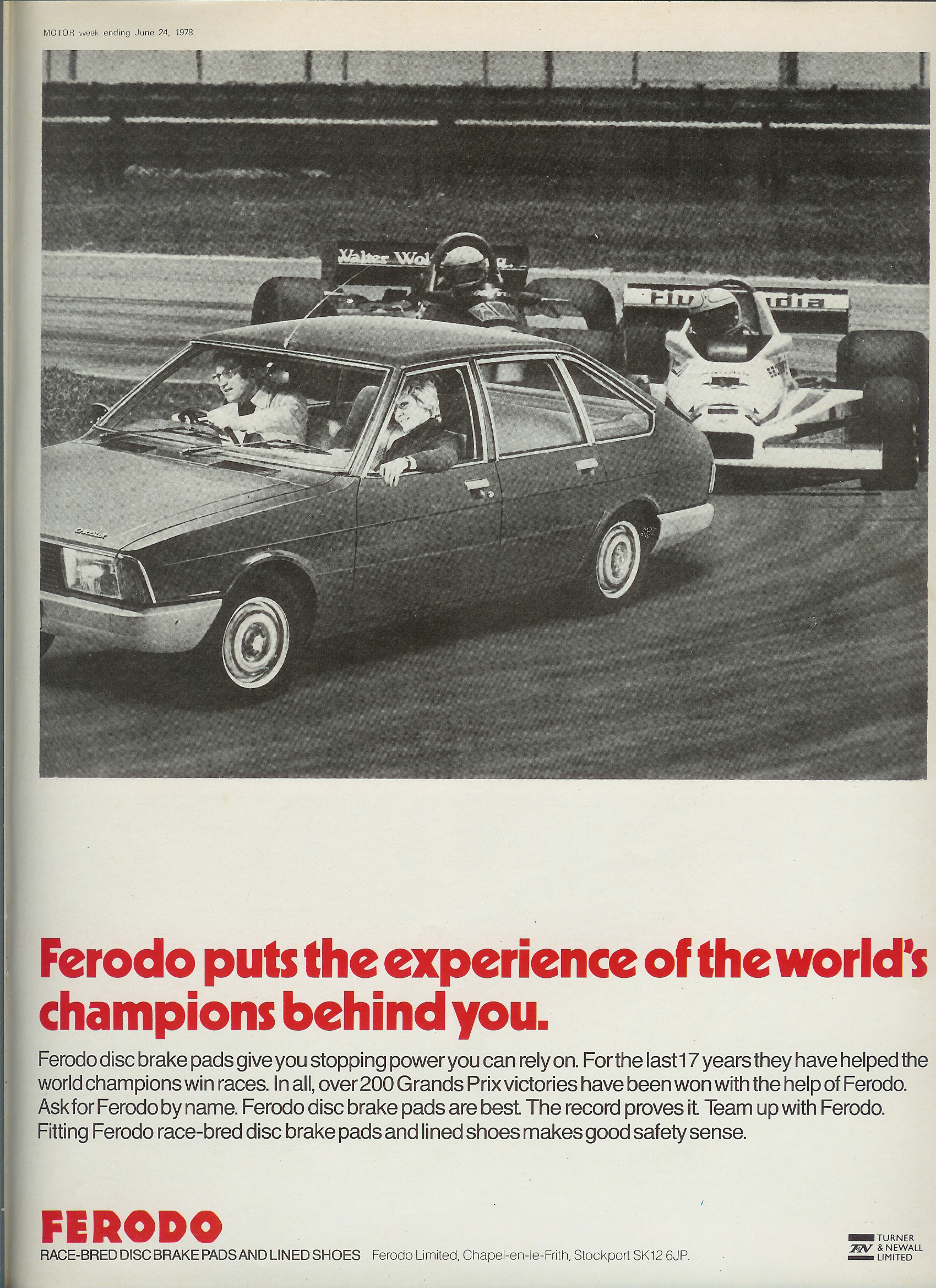Ferodo Alpine Advertisement
