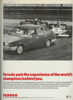 Ferodo Alpine Advertisement