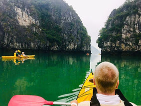 Kayaking in Halong