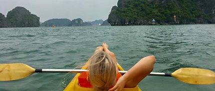 Kayaking in Halong