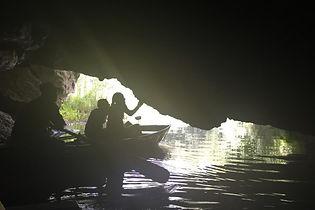 Row through a cave