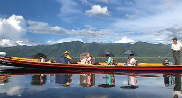long-tail boat in Inle Lake