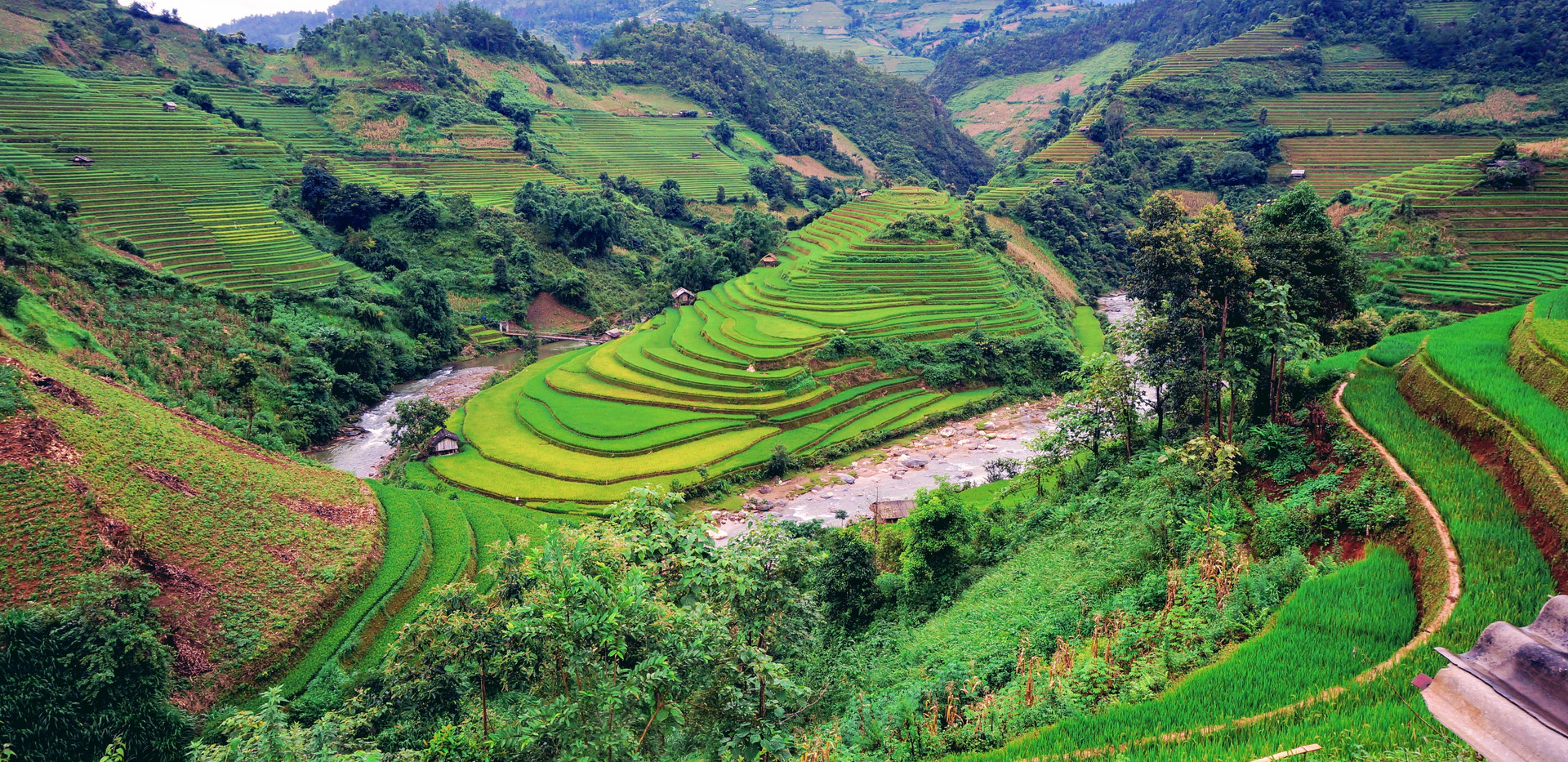Beautiful Green Rice Fields in Mu Cang Chai