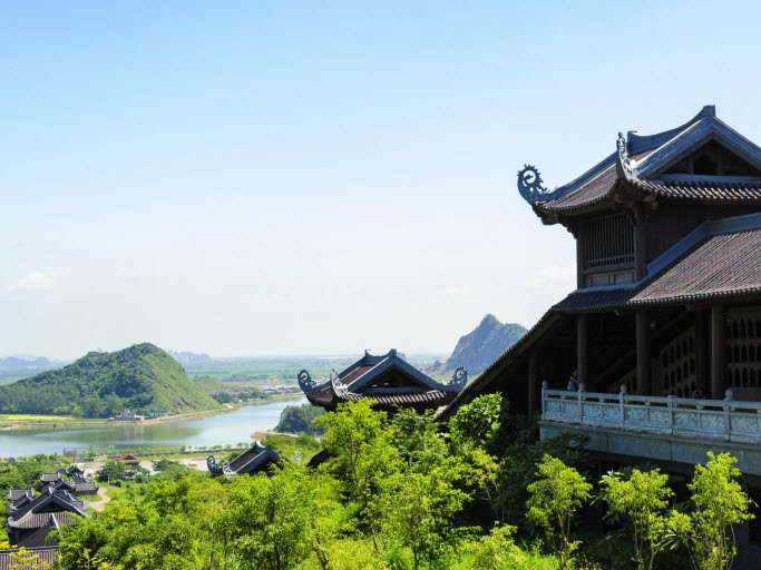 A conner of bai dinh pagoda