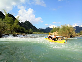kayaking in cao bang The hidden places in Northern Vietnam