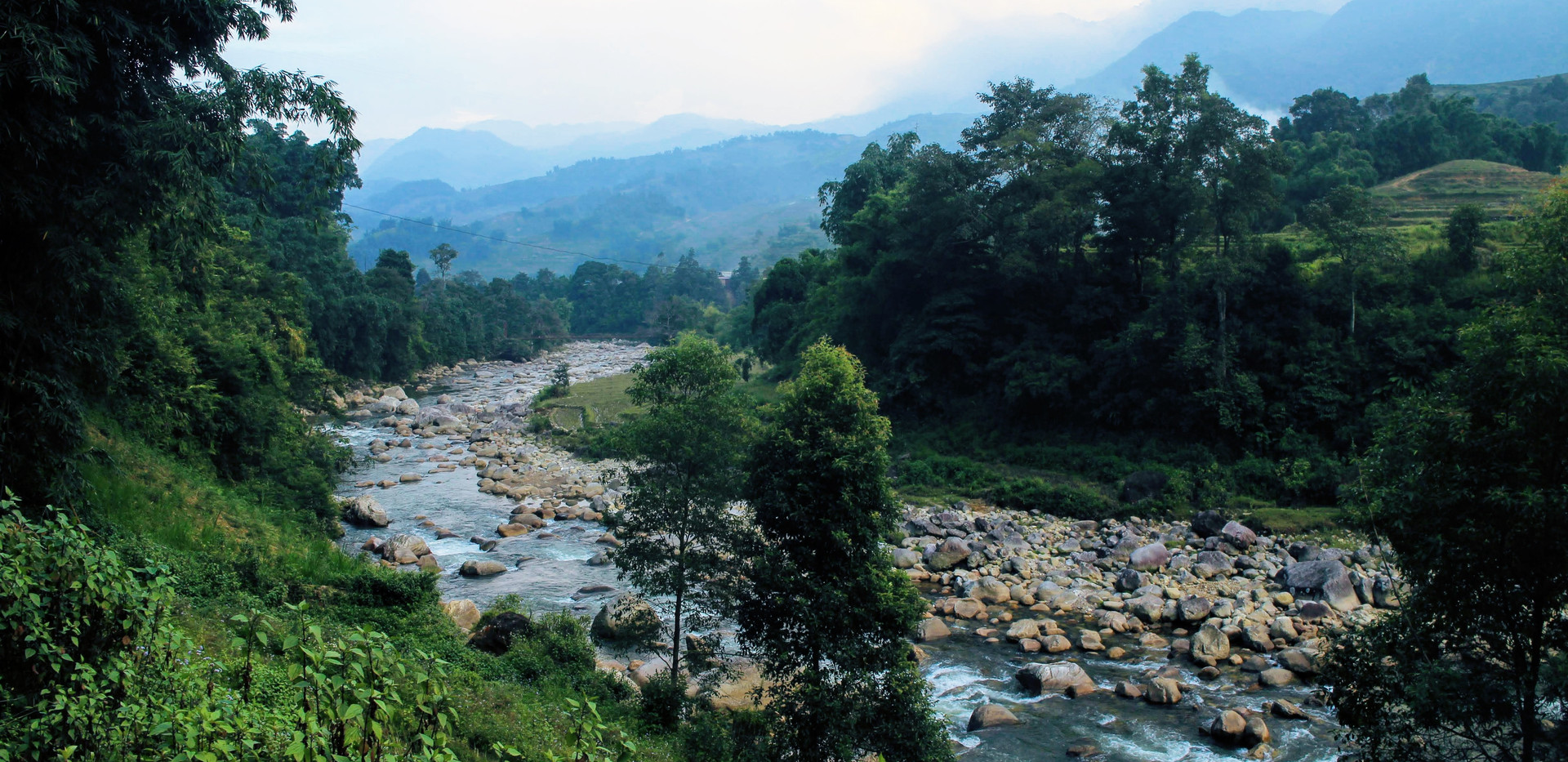 small river mountain in Sapa
