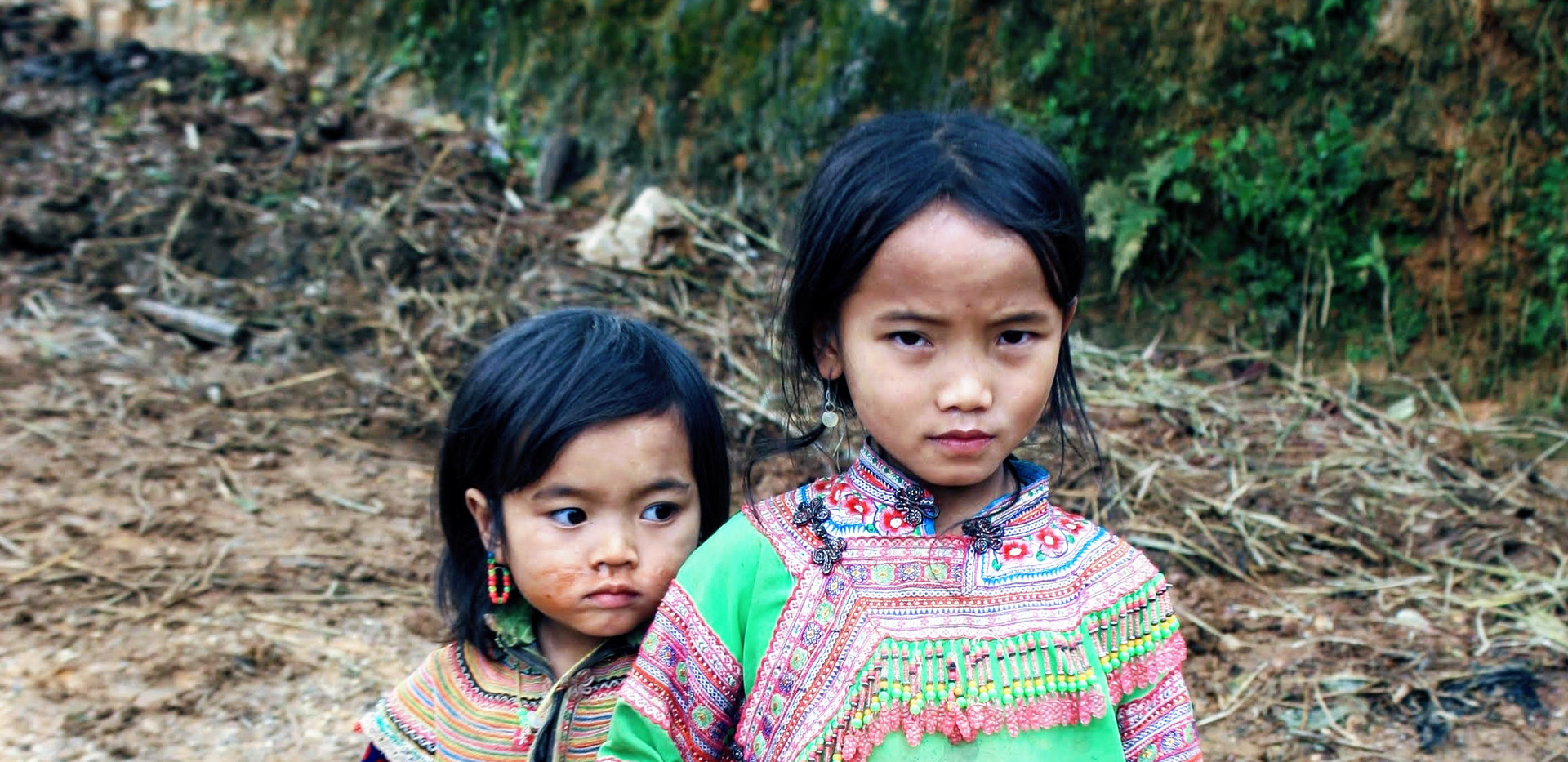 Little girls in Sapa