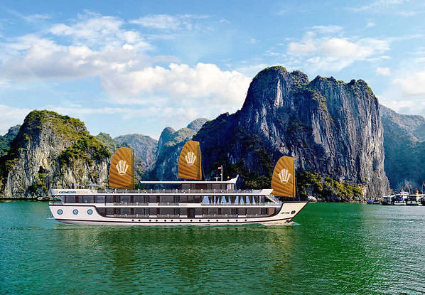 lan ha bay cruise racking ideas for Christmas days out in Vietnam