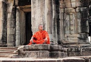 A Monk at Angkor Wat