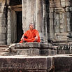 A Monk at Angkor Wat