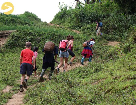 Hike uphill Sapa