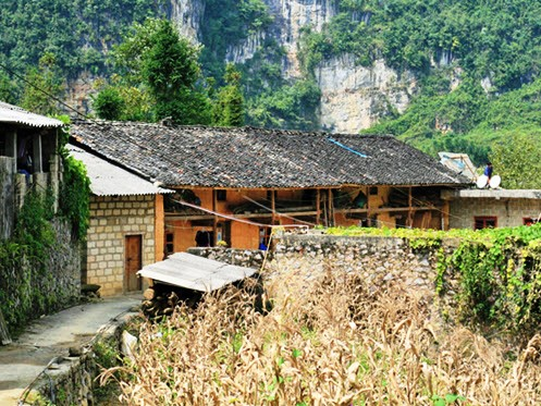 Hill tribe house in Ha Giang