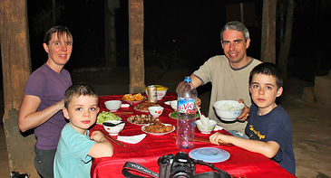 Dinning at a local house