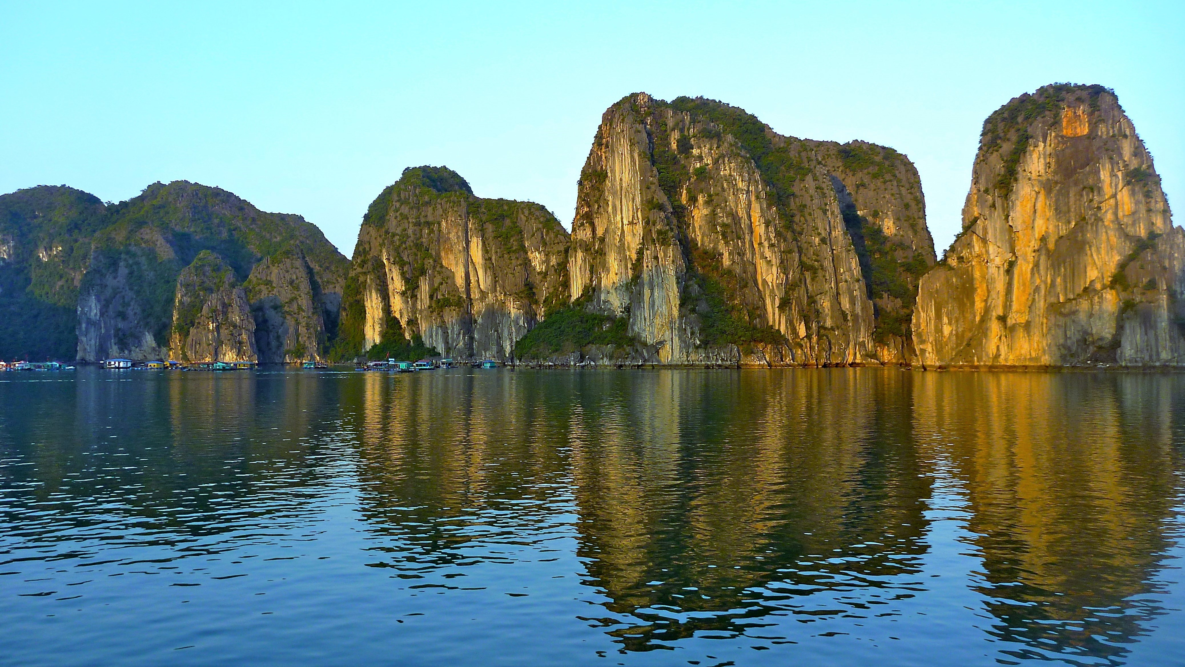 Halong Bay Rock Wall