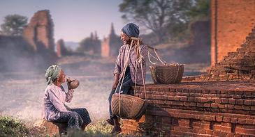 locals in Bagan