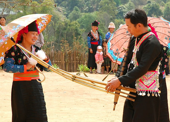 H'mong musical instrument in Ban Pho Vil