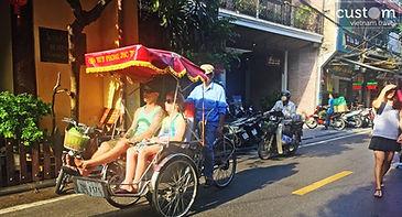 cyclo ride in Hanoi